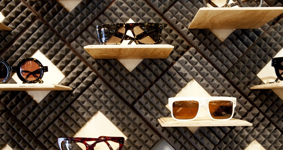 5cb9deb22f Displays produced for the Wilde Sunglasses Concept Store