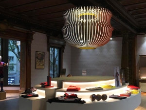Lámpara Barça Store Canaletas